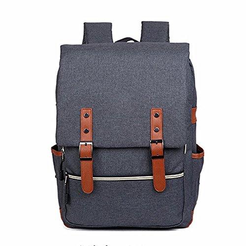Mochila de moda de alta capacidad neutral, mochila de computadora de viaje de ocio de estudiantes de secundaria ( Color : Gris claro ) Gris claro