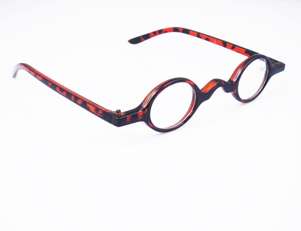 1196da57205 Amazon.com  Designer Readers Cute Small round Oval Vintage Reading Glasses  Eyeglasses (+1.75