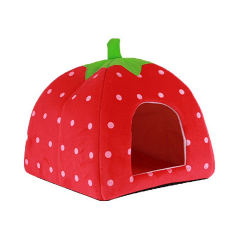 Homiki Casa cama para animal doméstico, de taco suave y con diseño de fresa (plegable): Amazon.es: Productos para mascotas