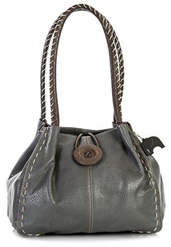 Mujer Al Para Gris pu Bolso 4 Grado Sintético Handbag Oscuro One Big Shop Hombro De pB8f7q4w