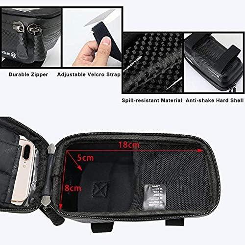 Support T/él/éphone V/élo Cadre avec Ecran Tactile Sensible Bicyclette Guidon Pochette V/élo Guidon du VTT Moto Grande Capacit/é Smartphone sous 6,5 Pouces Wuudi Sacoche V/élo T/él/éphone /Étanche