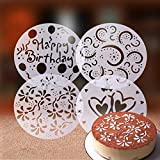 15-Pack Cake Decorating Stencil Molds, Magnoloran