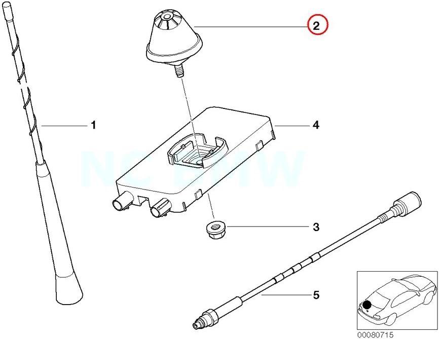 BMW auténtica corto – Antena de varilla antena cabeza ...