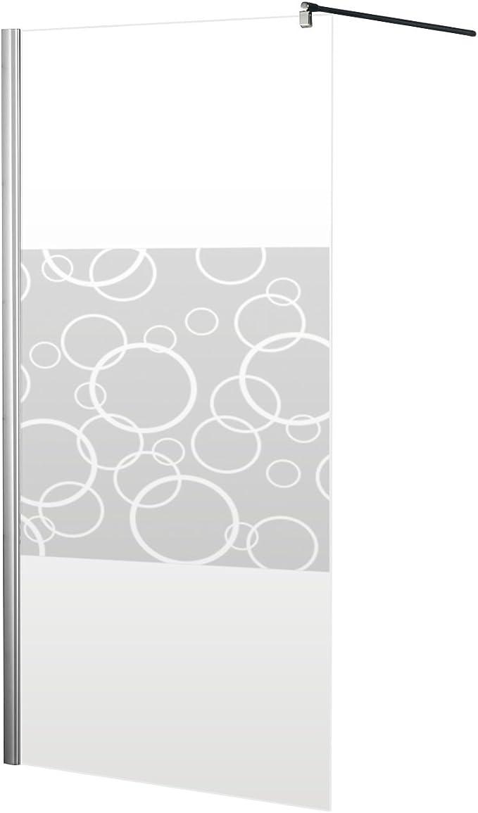 Schulte 4060991014253 mampara de ducha, Décor círculos, 90 x 190 ...