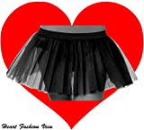 Black One Size Three Layer Tutu Skirt Length 11.5