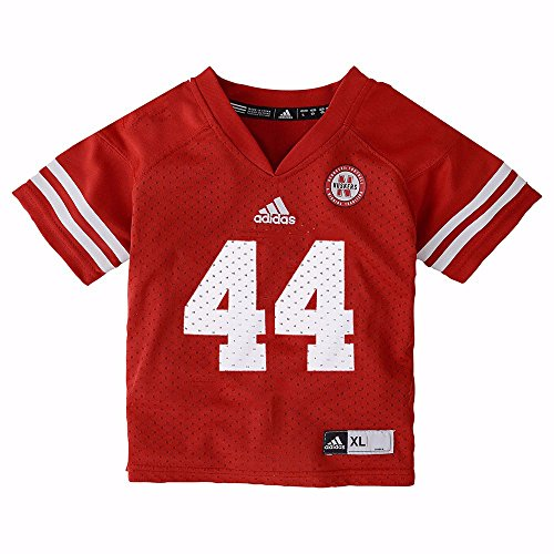adidas Nebraska Cornhuskers NCAA Red Official Home #44 Replica Football Jersey for Infant (12M)