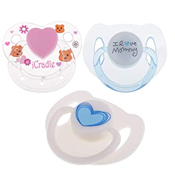 Multi ABS Plastic Dummy Pacifier Reborn Magnetic Pacifier Baby Doll Supplies