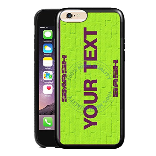 BleuReign(TM) Personalized Custom Name Superhero Series: Incredible Smash Bash Green License Plate TPU RUBBER SILICONE Phone Case Back Cover For Apple iPhone 8 Plus and 7 Plus - Personalized Incredible Hulk