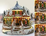 Christmas Snow Village Norther Lights Toy Store with Fiber Optic and LED Color Changing