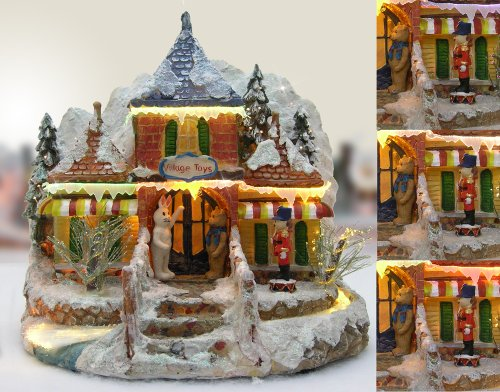 Banberry Christmas Snow Village Norther Lights Toy Store ...