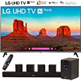 LG 55UK7700PUD 55 Class 4K HDR Smart LED AI UHD TV w/ThinQ (2018 Model) with Sharper Image 5.1 Home Theater System w/Subwoofer, Sound Bar & Satellite Speakers