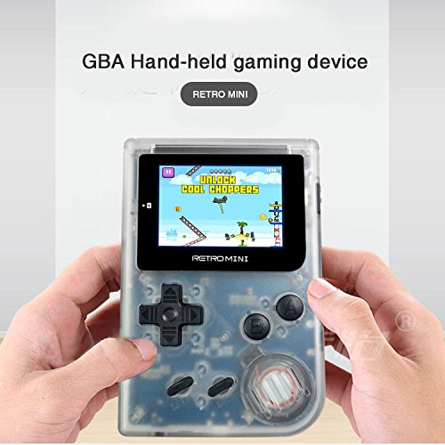 SMART TECH HANDHELD GAME CONSOLES, 2018 New 1500+ GAMES BUILT-IN, 32 BITS, KIDS BIRTHDAY GIFT (Transparent - Handheld 100 Games
