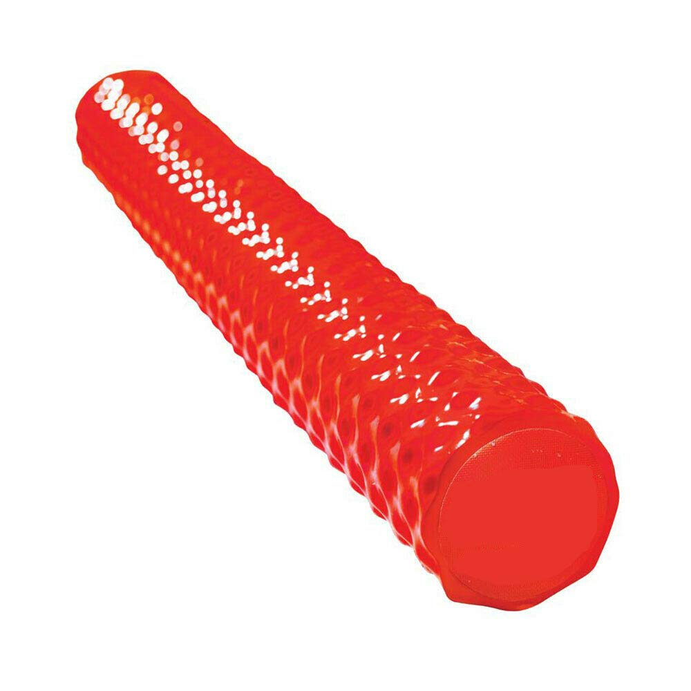 MRT SUPPLY First Class Soft Dipped Extra Large Ribbed Foam Pool Noodle, Red with Ebook