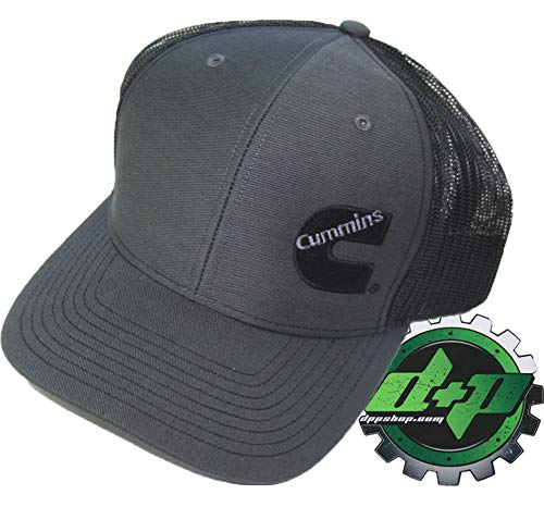 Diesel Power Plus Dodge Cummins Trucker hat Ball Richardson Charcoal Grey Black mesh snap Back