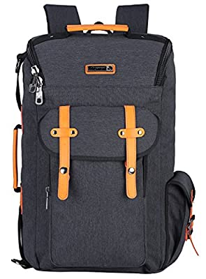WITZMAN Vintage Outdoor Travel Rucksack Casual College Backpack Laptop Bag
