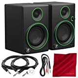 Mackie CR Series CR3 - 3'' Creative Reference Multimedia Monitor Pair Bundle with 3x Cables and Fibertique Cloth