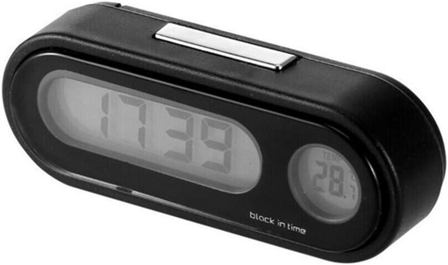 Fgyhtyjuu Fgyhty LCD-Schirm-Taktgeber-Thermometer-Auto-Digital-LED elektronische Zeit-Uhr mit Hintergrundbeleuchtung Fahrzeugzubeh/ör