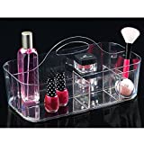mDesign Cosmetic Organizer Tote for Vanity Cabinet to Hold Makeup, Beauty Products - Clear