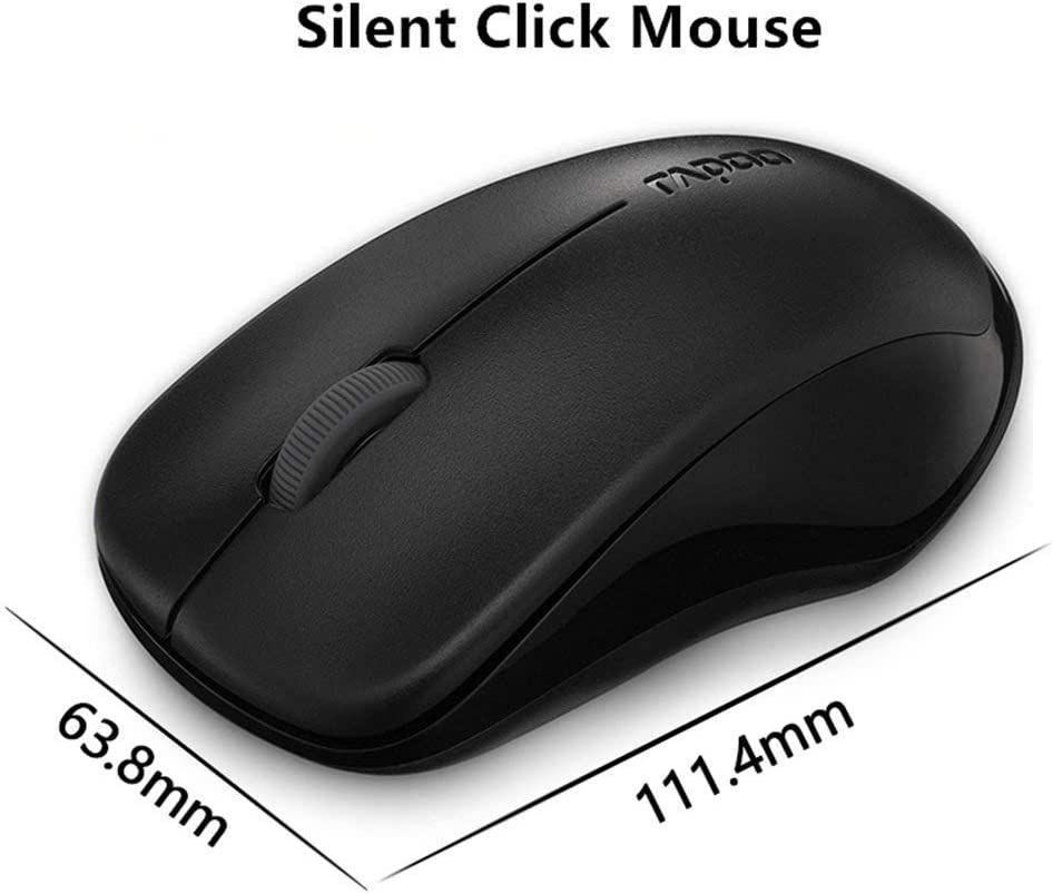 Ergonomic Design 1000Dpl Easy to Install for Office Computer Notebook,White YUEBAOBEI Wireless Mute Mouse Mini Body Receiver 2.4G Wireless Free