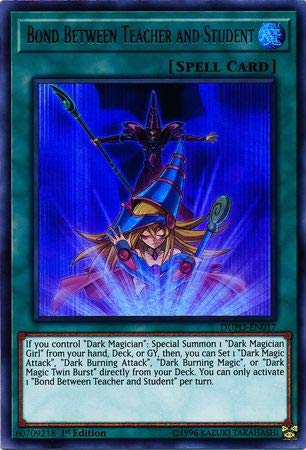 Yu-Gi-Oh! - Bond Between Teacher and Student - DUPO-EN017 - Ultra Rare - 1st Edition - Duel Power (Cards Magician Yugioh Dark)