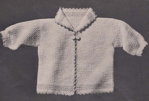 Infant Sacque Baby Sweater Jacket Crochet Pattern Kindle Edition