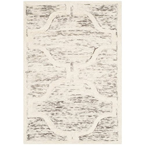 (Safavieh Cambridge Collection CAM727R Handcrafted Moroccan Geometric Light Brown and Ivory Premium Wool Area Rug (2' x 3'))