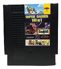 143 in 1 NES Game Cart Video Game Multi Super Games (Black Cartridge)