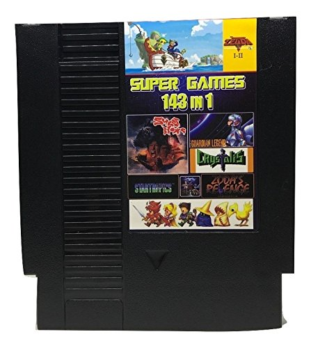 143 in 1 NES Super Games Multi Cart 72 Pin Limited Edition (Solid Black)
