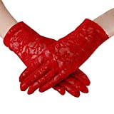 Elegant Lady Formal Banquet Party Bride Pierced Lace Wedding Gloves Bridal Gloves, NO.3