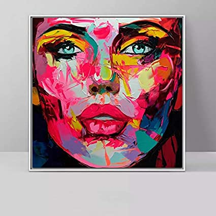 T Yifuzx Diy Adult Canvas Painting With Brush And Acrylic Paint No Frame Wall Art Painting Colorful Face Decoration Art In The Living Room 40x50cm Amazon Co Uk Kitchen Home