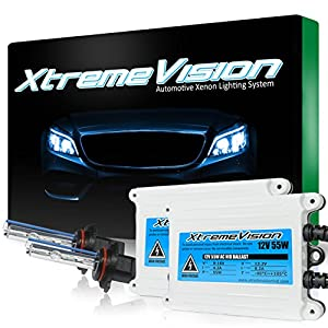 XtremeVision AC 55W HID Xenon Conversion Kit with Premium Slim Ballast - 9006 30000K - Deep Blue - 2 Year Warranty