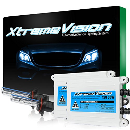 XtremeVision 55W AC Xenon HID Lights with Premium Slim AC Ballast - 9005 6000K - 6K Light Blue - 2 Year Warranty