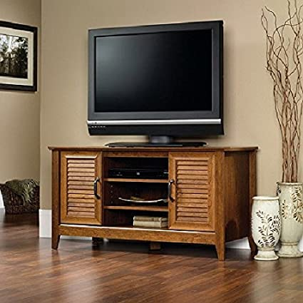 Amazon Com Cherry Rustic Tv Stand For Flat Screens Up To 50