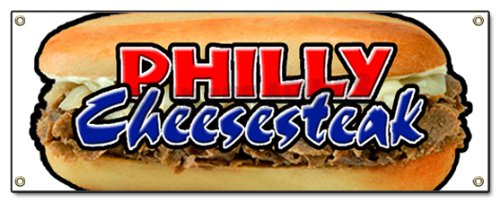 Philly Cheese Steak Banner Sign cheesesteak Signs
