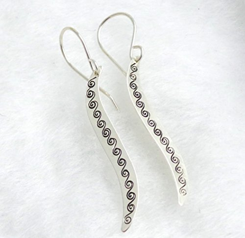 Fancy Scroll Ring (Sterling Silver Scroll Wave Earrings)