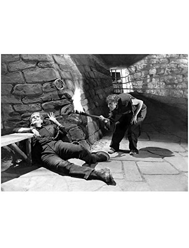 (Boris Karloff as Frankenstein on Floor Freaking Out about Fire 8 x 10 Inch Photo)