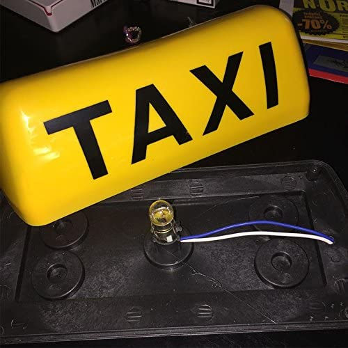 12 V luz de señal LED Taxi impermeable Taxi techo Taxi 11 inch Luz 5 W coche magnética signo: Amazon.es: Coche y moto