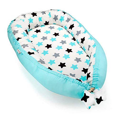 Great Features Of Baby Lounger, Baby Nest Baby Bassinet, Portable 100% Organic Soft Cotton Breathabl...