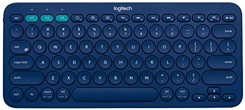 Logitech K380 Multi-Device Bluetooth Keyboard (Blue) (920-007559)