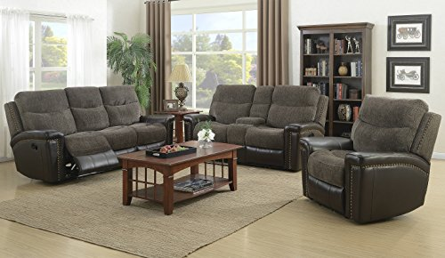 Cambridge 98532A2PC-BR 2 Piece Modena Living Room Set, Brown