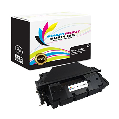 Smart Print Supplies Compatible 61X C8061X MICR with Chip Black High Yield Toner Cartridge Replacement for HP Laserjet 4100 4150 Printers (10,000 - Smart C8061x Print