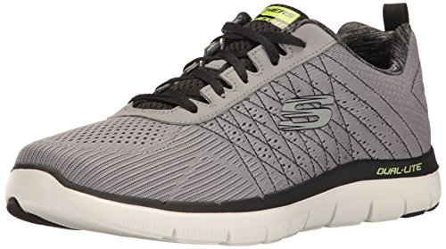 (Skechers Sport Men's Flex Advantage 2.0 the Happs Oxford,Light Gray/Black,12 M US)