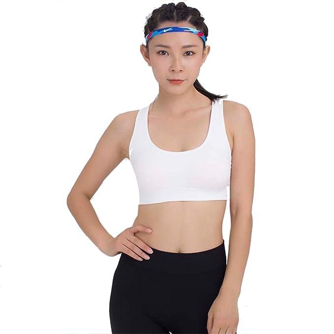 Dunland Mujer Sujetador Deportivo de Camiseta Urbana Respirable Alto Impacto Apoyo Sin Aros para Yoga Gimnasio