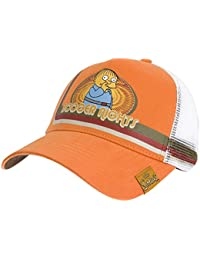5b91df6b3e8 Simpsons - Mens Simpsons - Booger Nights Trucker Cap Orange. Old Glory