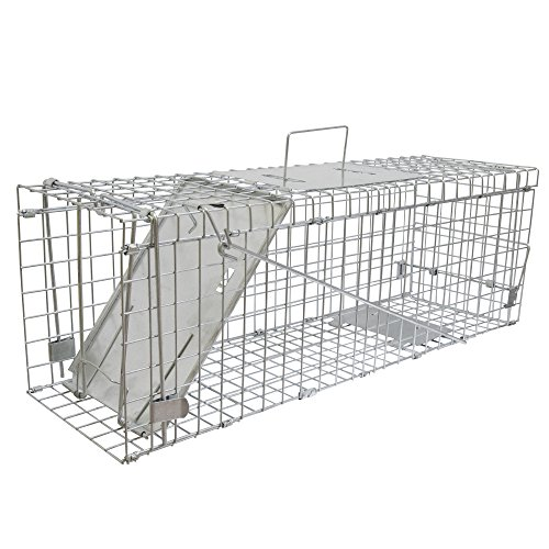 VIVOHOME Collapsible 1 Door Live Animal Cage Trap 24 x 8 x 8 Inch (Wild Trap Rabbits)