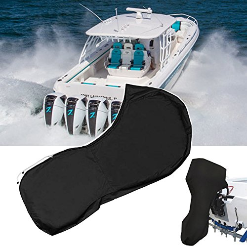 Silvotek Boat Motor Covers - Full Outboard Motor Cover with 600D Heavy Duty Oxford Fabric + Extra PVC Coating,Waterproof Outboard Engine Covers Fit for Motor by Silvotek (Image #3)