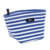 SCOUT Crown Jewels Cosmetic, Makeup & Small Accessory Bag, Water Resistant, Zips Closed, Stripe Right