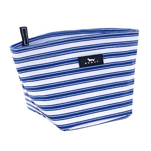 SCOUT Crown Jewels Cosmetic, Makeup & Small Accessory Bag, Water Resistant, Zips Closed, Stripe Right by SCOUT