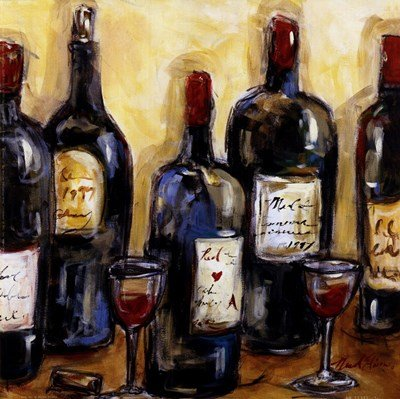 Wine Bar by Nicole Etienne - 10x10 Inches - Art Print Poster
