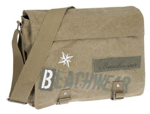 Messenger Tasche BEACHWEAR Kuriertasche Schultertasche Tasche Canvas /// Camel Sand Beige xnZ81